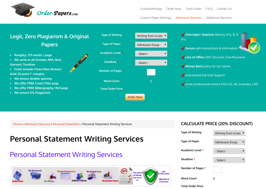 Personal statement writing company best residency