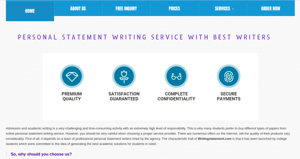 writingstatement.com review