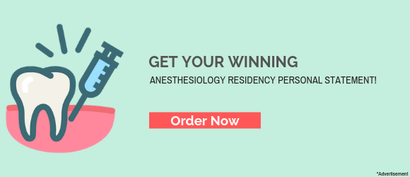 Anesthesia Residency Personal Statement