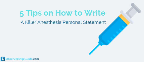 anesthesia personal statement
