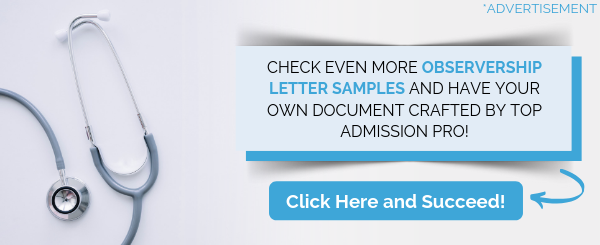observership letter writing assistance